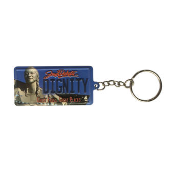 Customize Embossed License Plate Design Metal Aluminum Keychain