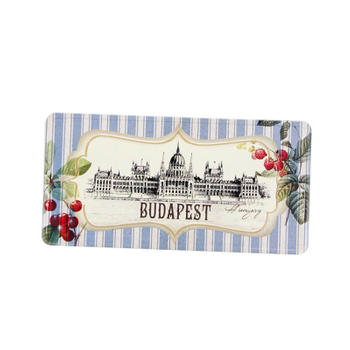 Customize Budapest Tourist Gift Embossed Metal Post Card