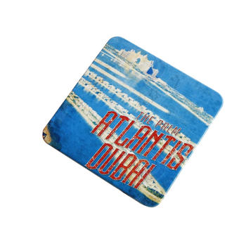Wholesale Gift Colorful Printing Tin Coaster Filled with Cork