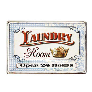 Customized Laundry Room Business Vintage Metal Sign Tin