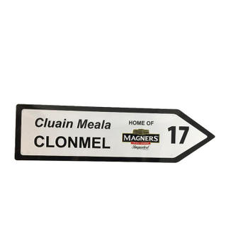 Cluain Meala Clonmel Arrow Shape Metal Sign