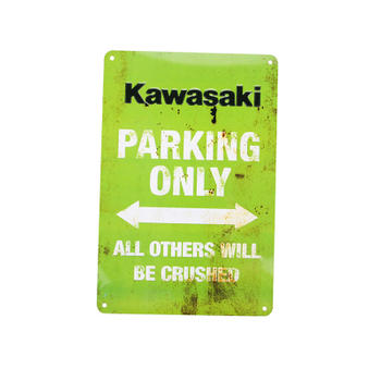 All Others Will Be Crushed Kawasaki Parking Only Sign