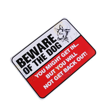 Beware Of Dog Embossed Aluminum Sign