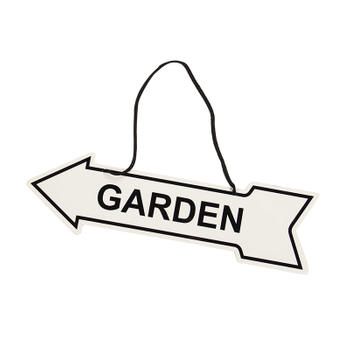 Garden Metal Double-side Printing Arrow Sign with Hanging Rope