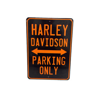 Harley Davidson Metal Parking Only Sign
