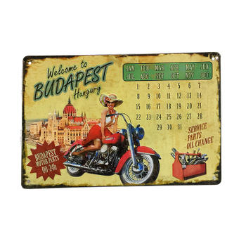 Welcome To Budapest Hungary Tin Calendar with Magnetic Ring