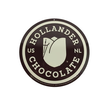 Professional Customized Chocolate Embossed Round Metal Tin Sign