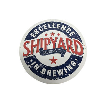 Professional Customized Shipyard Round Signs Tin Vintage Sign