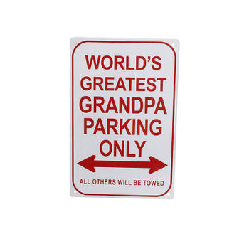 All Others Will Be Towed Word's Greatest Grandpa Parking Only Sign