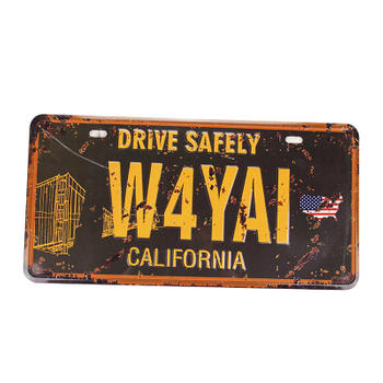 California Drive Safely Car Number Plate