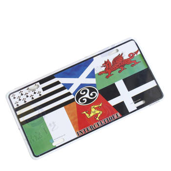 INTERCELTIQUE Colorful Personalized Car License Plate