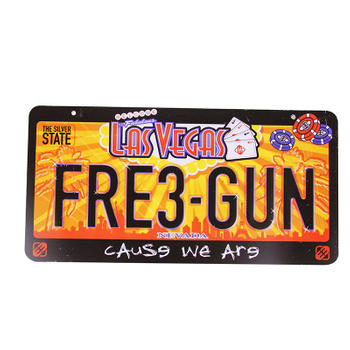 Letters And Numbers Car License Plate