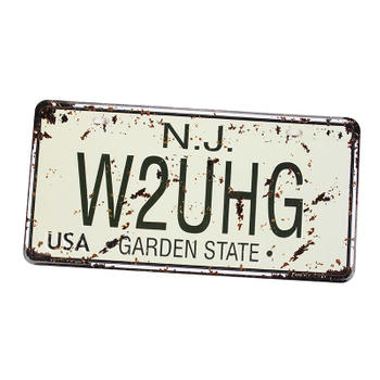 Vintage Style USA License Plate