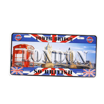 Tower Bridge So British License Plate
