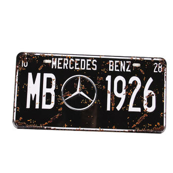 Vintage Mercedes Benz 1926 License Plate