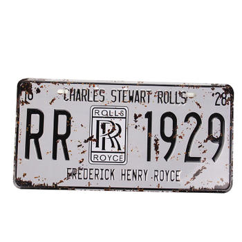 Retro Style 1929 Embossed License Plate
