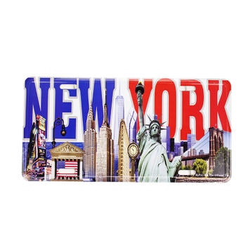 New York The Statue of Liberty Car License Plate