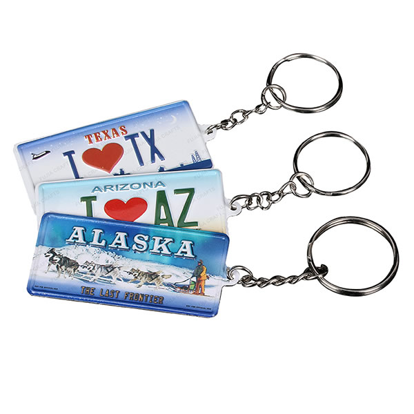 Personalized Metal Name License Plate Souvenir Keychain