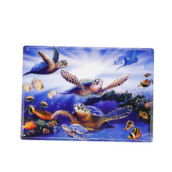 Undersea World Metal Souvenir Post Card