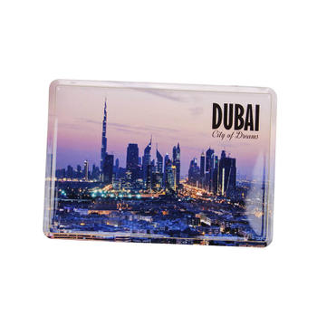 City of Dreams DUBAI Souvenir Metal Aluminum Post Card