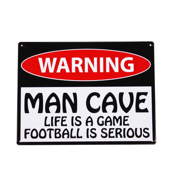 Custom Man Cave Metal Warning Sign