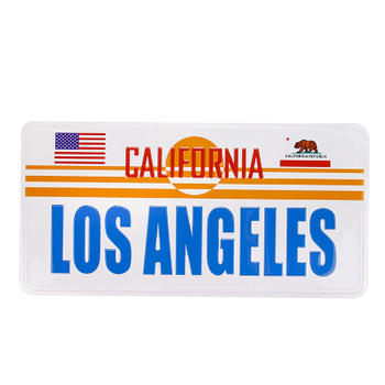 Los Angles Car License Plate