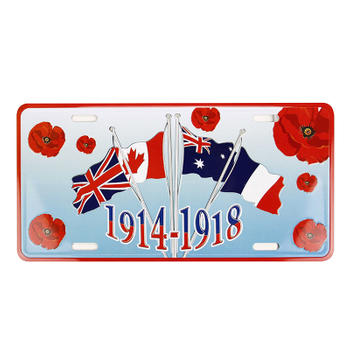 1914-1917 Four Flags Car License Plate