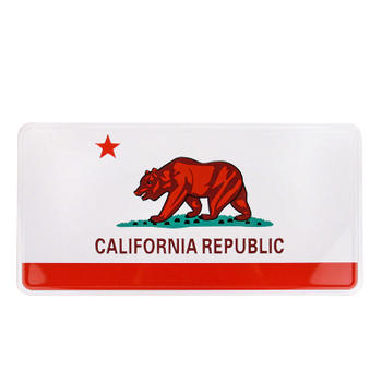 California Republic Car License Plate
