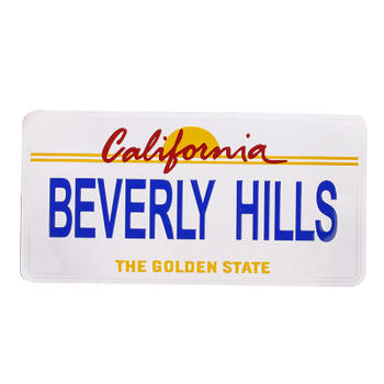 Beverly Hills No Embossing Car License Plate